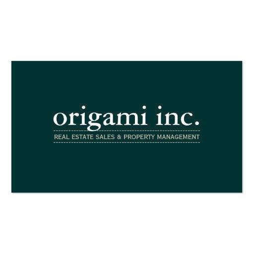PROFESSIONAL plain modern simple smart dark green Business Card Template