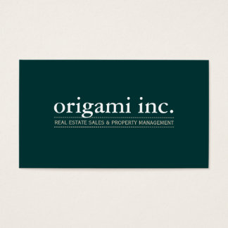 PROFESSIONAL plain modern simple smart dark green Business Card