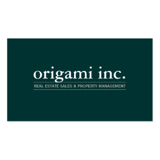 PROFESSIONAL plain modern simple smart dark green Pack Of Standard Business Cards