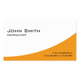 Professional Plain Orange Elegant Modern Computer Pack Of Standard Business Cards
