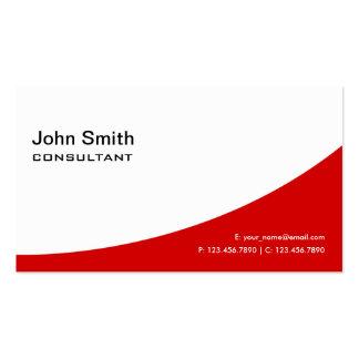Professional Plain Red Elegant Modern Real Estate Pack Of Standard Business Cards