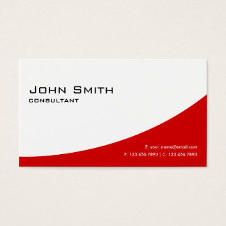 Professional Plain Red Elegant Modern Real Estate Business Card