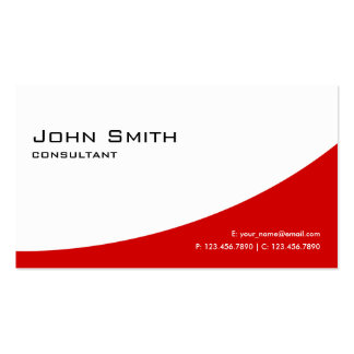 Professional Plain Red Elegant Modern Real Estate Pack Of Standard Business Cards