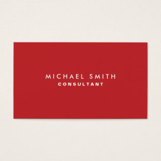 Professional Plain Red Elegant Modern Simple