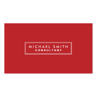 Professional Plain Red Elegant Simple Modern Pack Of Standard Business Cards