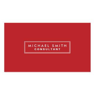 Professional Plain Red Elegant Simple Modern Pack Of Standard Business Cards