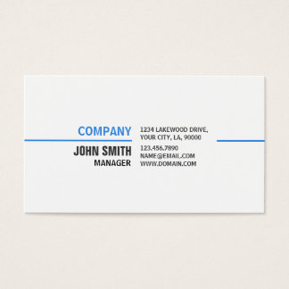 Professional Plain Simple Elegant White Computer Business Card