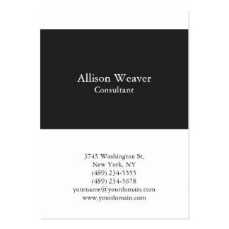 Professional Plain Vertical Dark Grey White Unique Pack Of Chubby Business Cards