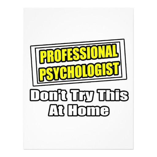 Professional Psychologist...Joke Custom Flyer