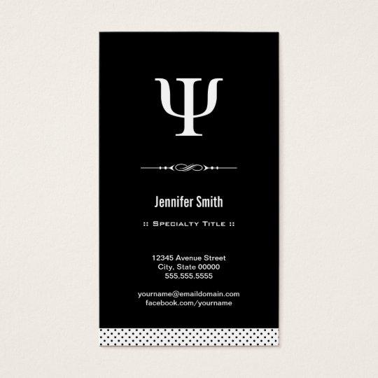 Professional Psychologist - Psychology Psi Symbol Business Card