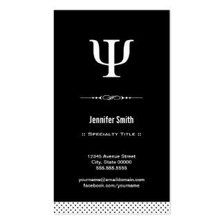 Professional Psychologist - Psychology Psi Symbol Pack Of Standard Business Cards