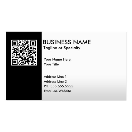 Premium qr code business card templates professional qr code business card reheart Images