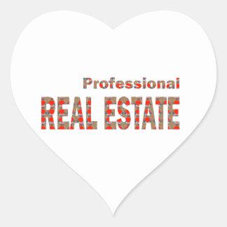 Professional REAL ESTATE House Condo Villa Town Ci Heart Sticker