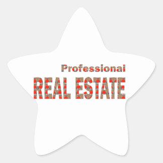 Professional REAL ESTATE House Condo Villa Town Ci Star Sticker