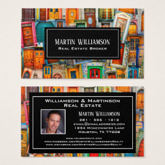 Professional Real Estate Modern Doors Photo Business Card
