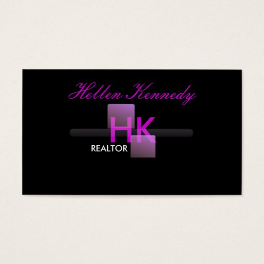 Professional Realtor Monogram Business Cards