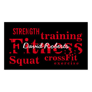 Professional Red Fitness Words Personal Trainer Pack Of Standard Business Cards