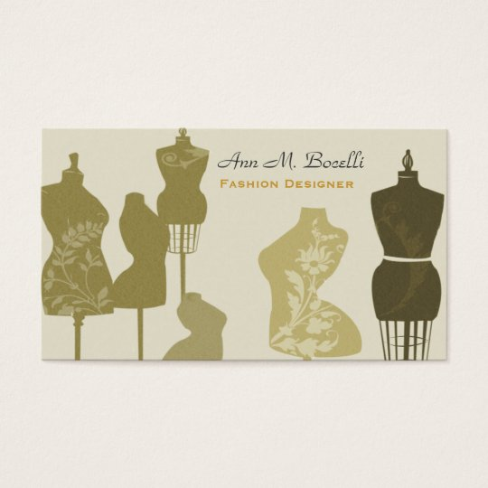 Professional Retro Vintage Sewing Mannequin Business Card