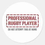 Professional Rugby Player Round Sticker