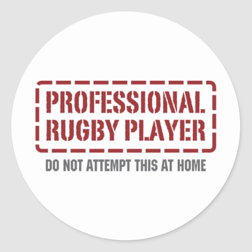 Professional Rugby Player Round Sticker