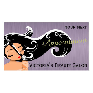Professional Salon Hair Stylist Appointment Cards Pack Of Standard Business Cards