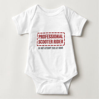 Professional Scooter Rider Baby Bodysuit