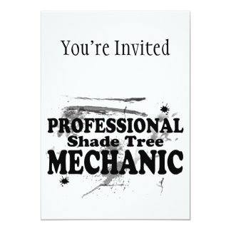 Professional Shade Tree Mechanic 5x7 Paper Invitation Card