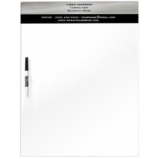 Professional Silver and Black Dry Erase Board