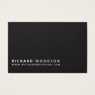 Professional Simple Black White Gray  Minimal Look Business Card