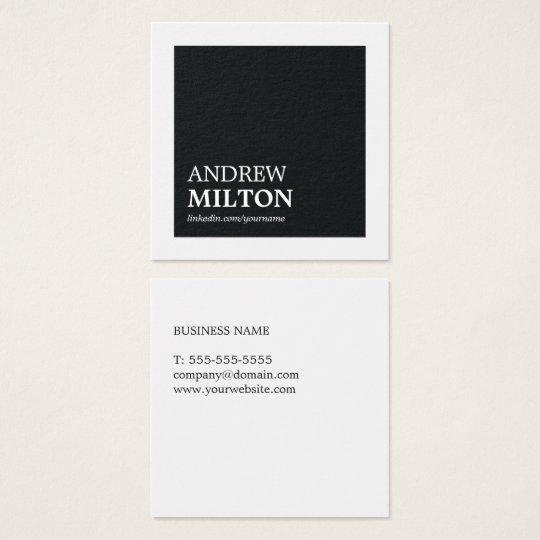 Professional Simple Elegant Black White Consultant Square