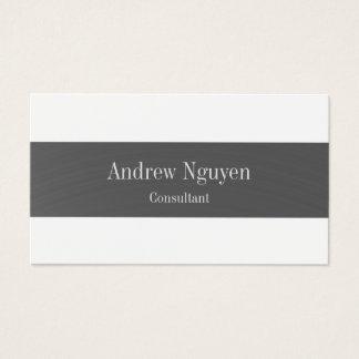 Professional Simple Modern Plain Metal Stripe Business Card
