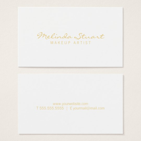 Professional Simple Modern White and Gold Business Card