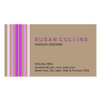 Professional Simple Plain Striped Elegant Modern Business Card Template