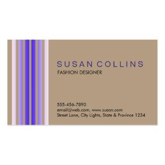 Professional Simple Plain Striped Elegant Modern Business Cards