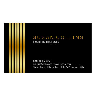 Professional Simple Plain Striped Elegant Modern Pack Of Standard Business Cards