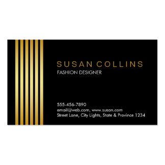 Professional Simple Plain Striped Elegant Modern Pack Of Standard Business Cards