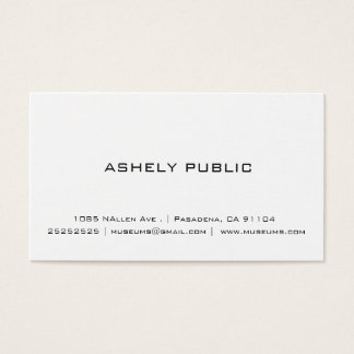 Professional Simple White Business Cards