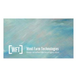 Professional sky wind blue art business cards