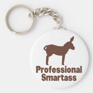 Professional Smartass Basic Round Button Key Ring