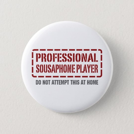Professional Sousaphone Player 6 Cm Round Badge