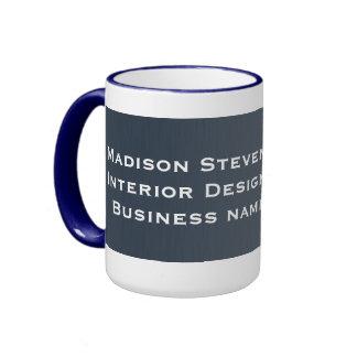 Professional Stripes in Blue Mugs