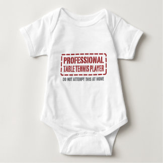 Professional Table Tennis Player Baby Bodysuit