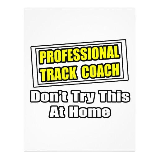 Professional Track Coach...Joke Full Color Flyer