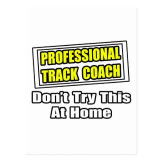Professional Track Coach...Joke Postcard