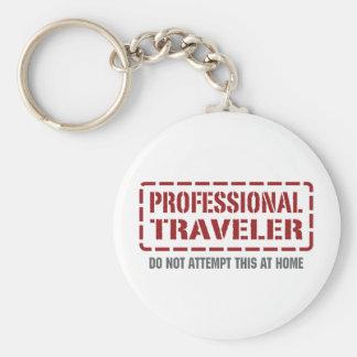 Professional Traveler Basic Round Button Key Ring