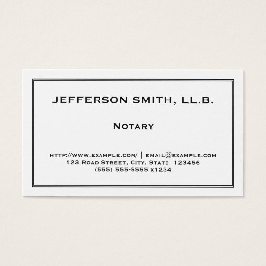 Professional & Understated Notary Business Card