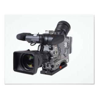 professional video camera 11 cm x 14 cm invitation card