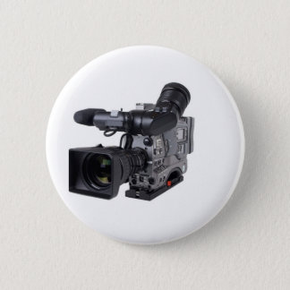 professional video camera 6 cm round badge