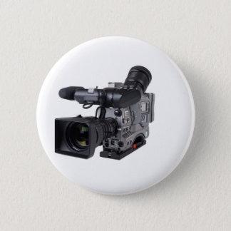 professional video camera 6 cm round badge
