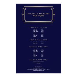 Professional Vintage Art Deco Elegant Gold, Navy 14 Cm X 21.5 Cm Flyer